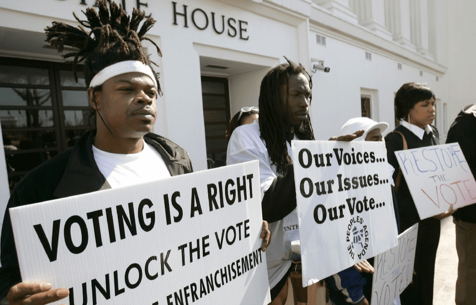 voting rights for prisoners Restoration of civil rights include: restrictions on employment, housing, civic involvement and voting, gun ownership, and even coaching sports.