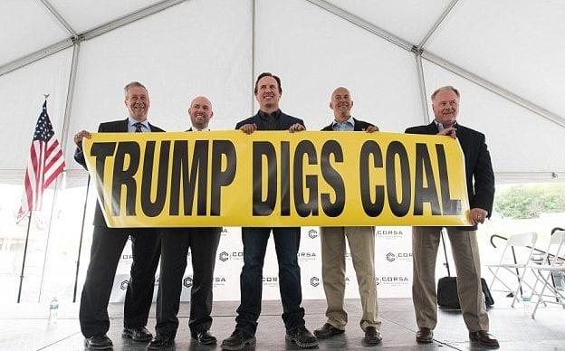 coal mine - trump