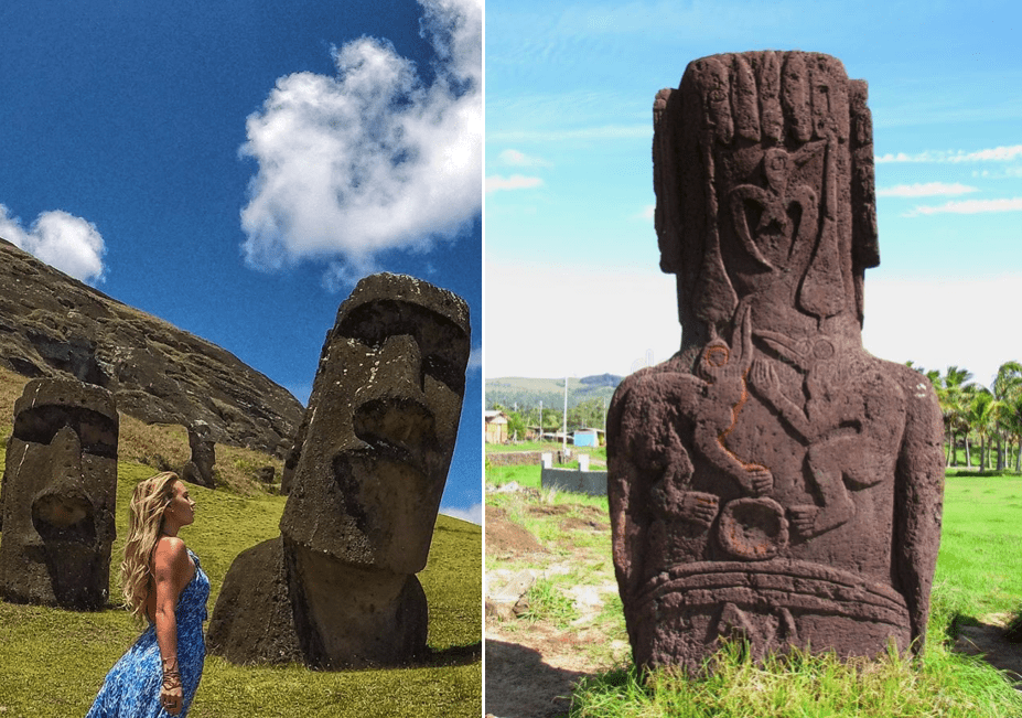 Archeologists found something on easter island that leaves them