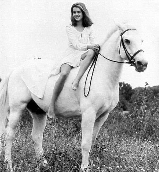 brooke shields - horse