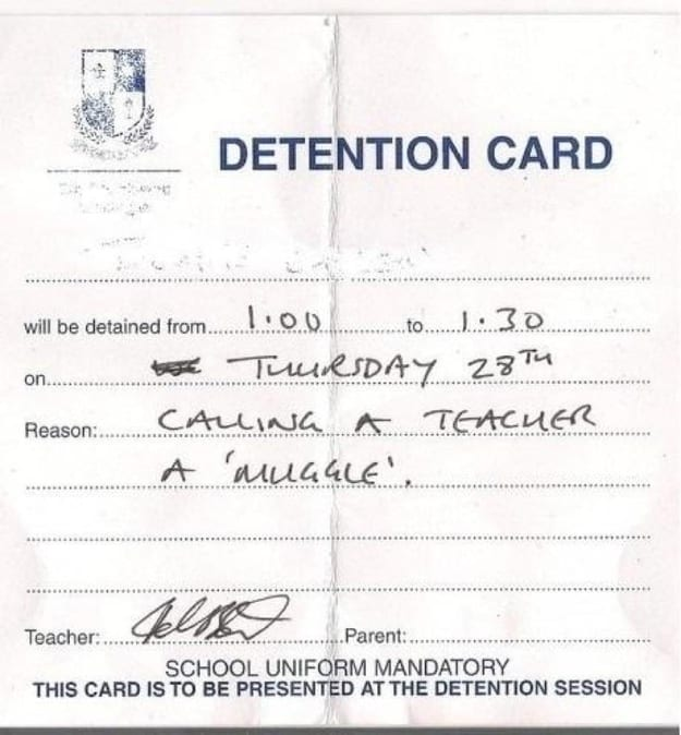 detention- muggle