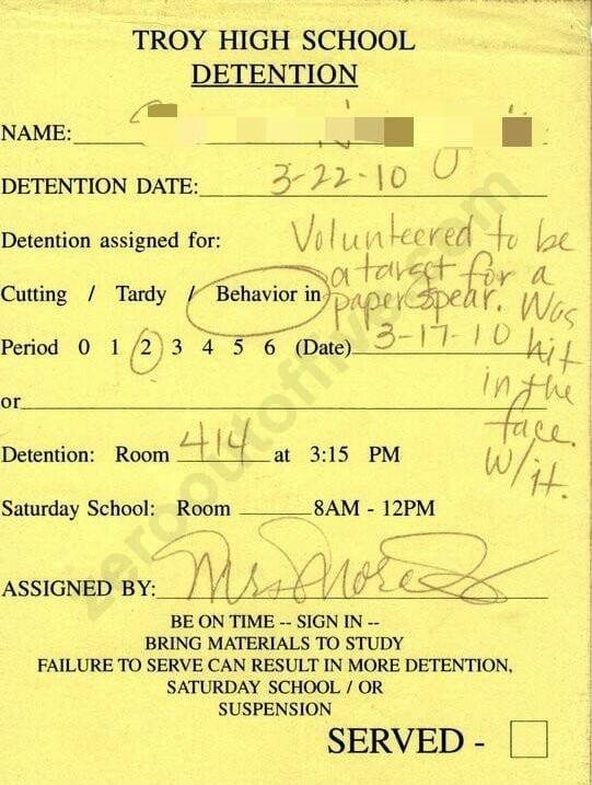 detention- target