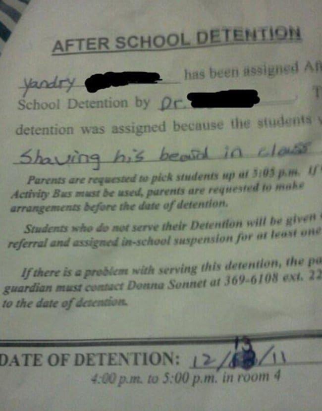 detention- beard