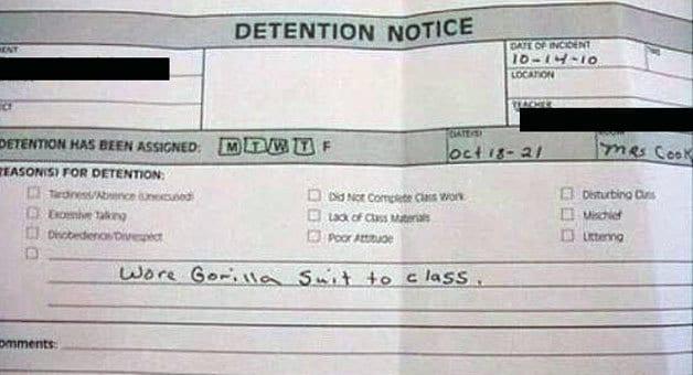 detention- gorilla