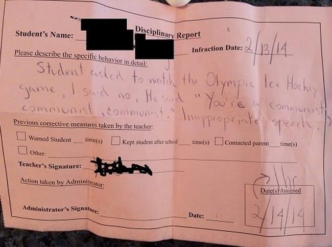 detention- communist