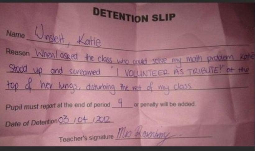 detention- volunteer