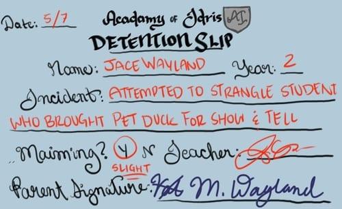 detention- duck