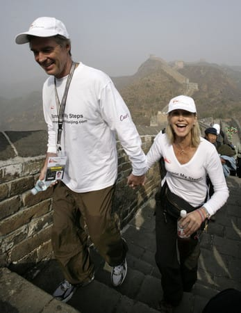 Fundraisers walk to Beijing on Great Wall