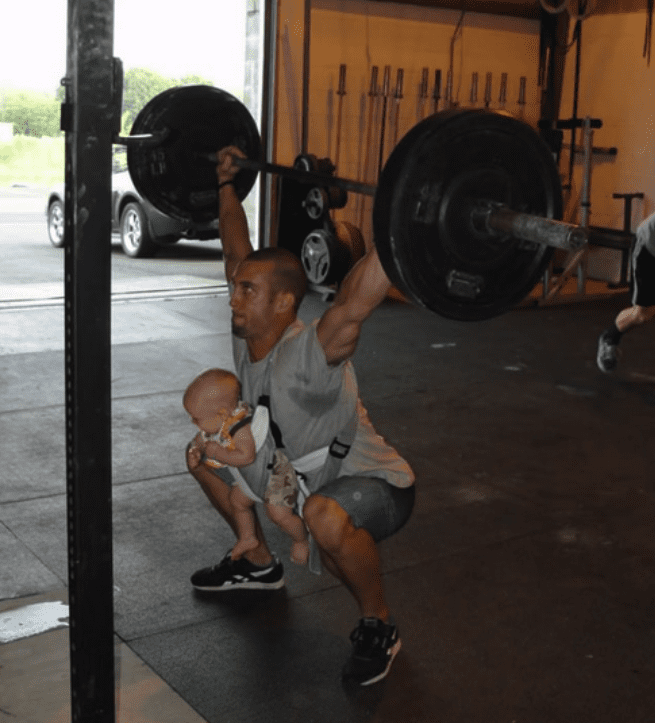 weight lifting with your baby