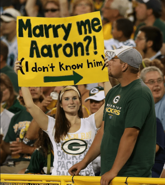 naked girl bay Green packers fans