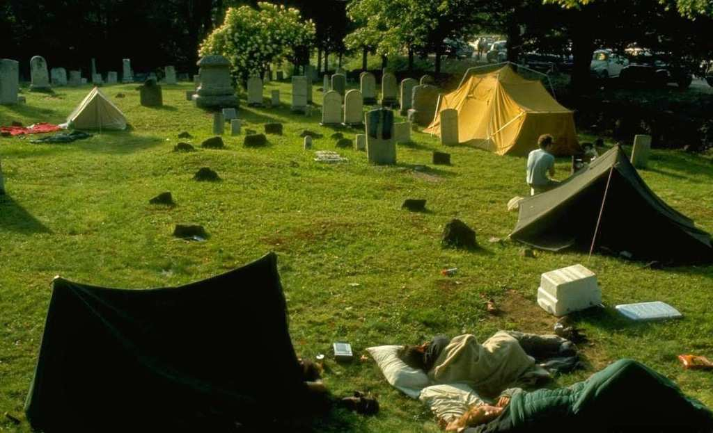 Image result for camping in a cemetery