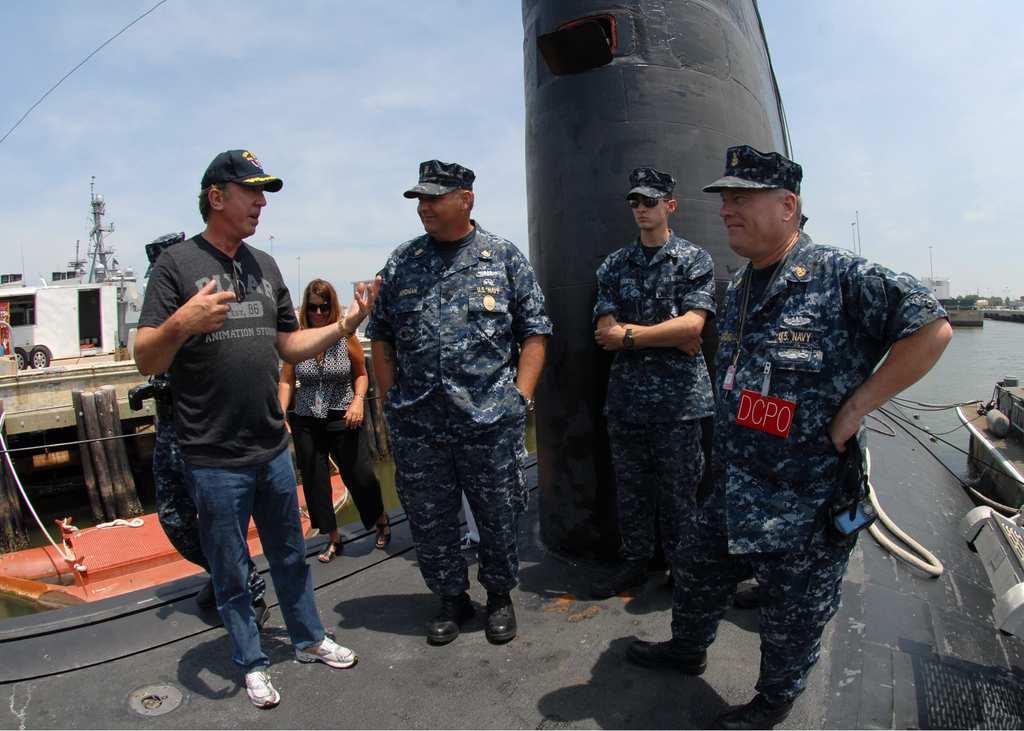 tim allen talking to navy