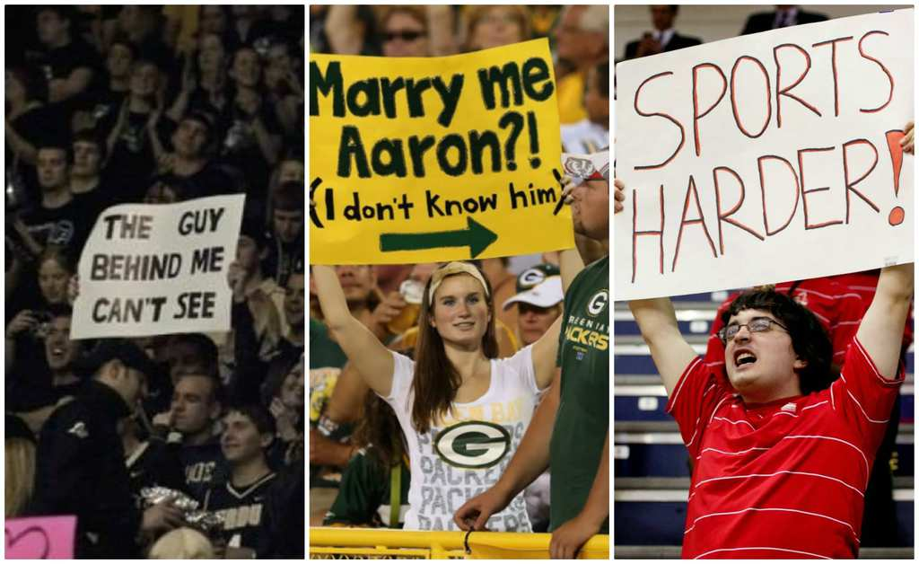 signs sports hilarious