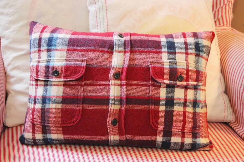 buttoned shirt cushion