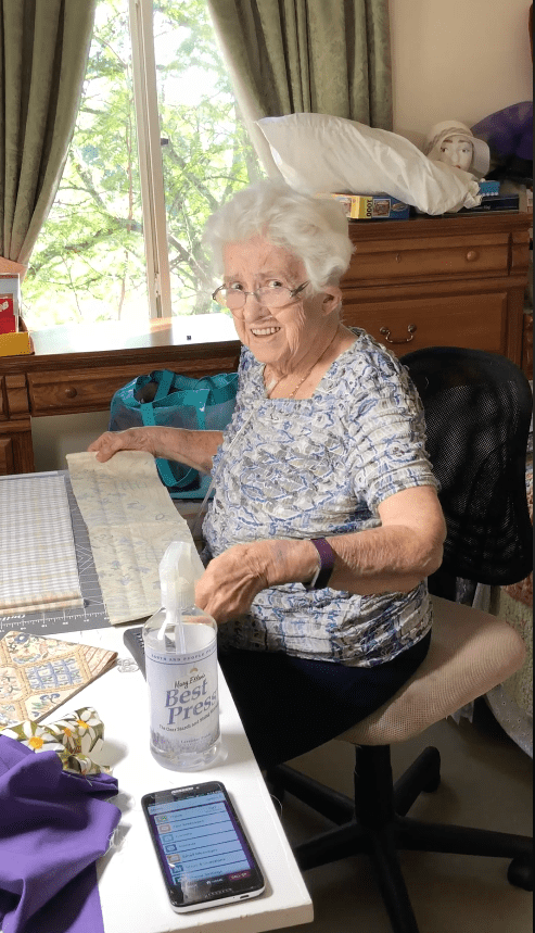 Grandma Terry at her sewing desk