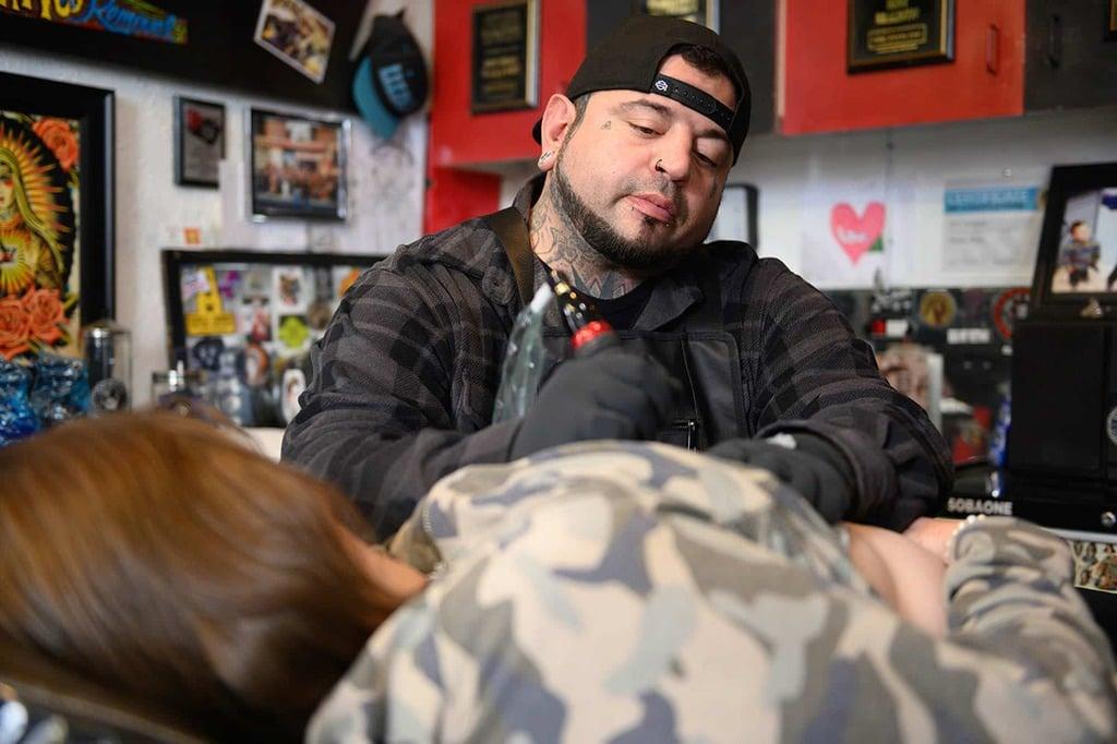 Eric Catalano, the tattoo artist