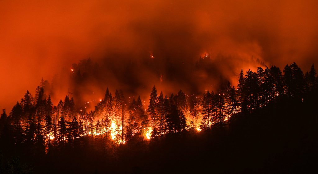 An image of the California Wildfires