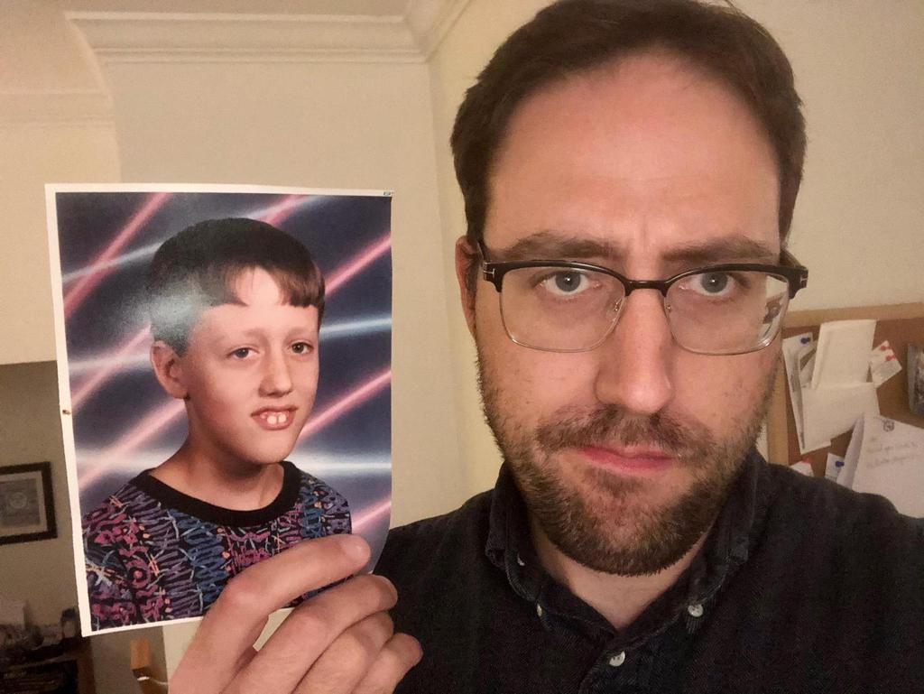 Adrian Smith and the original photo.