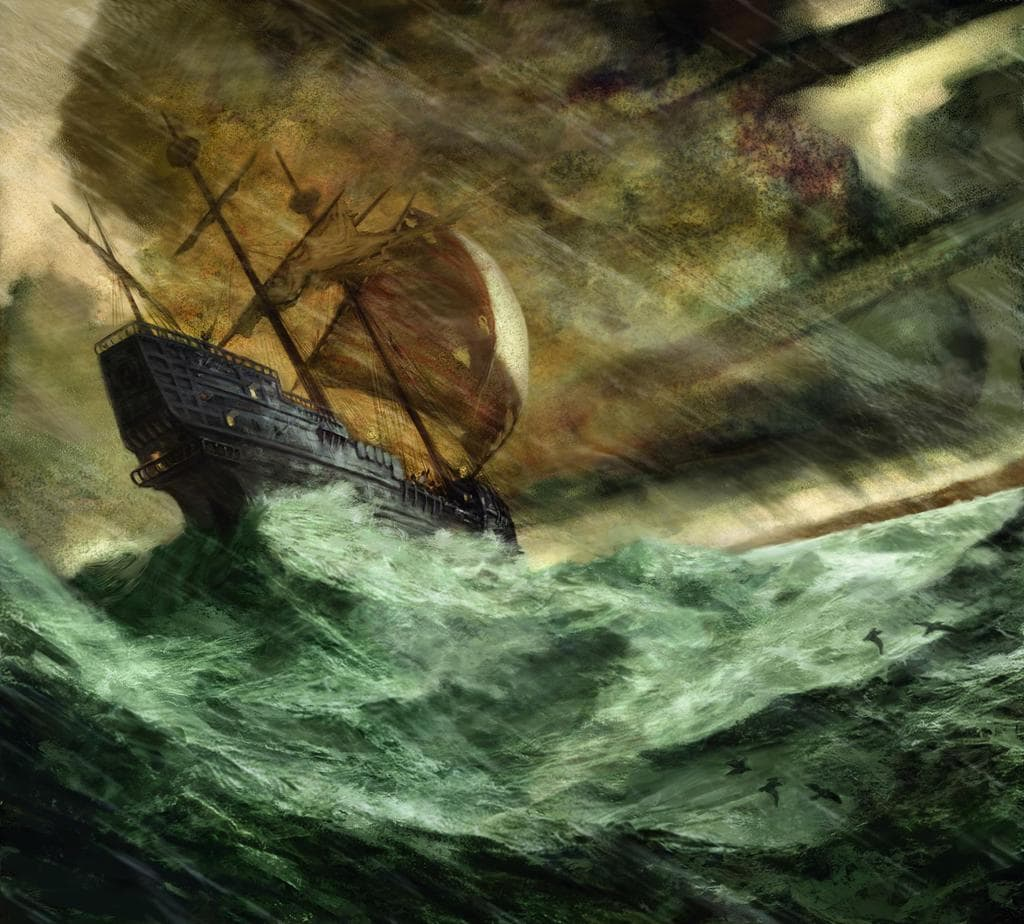 Jon Foster's Shipwreck in Storm