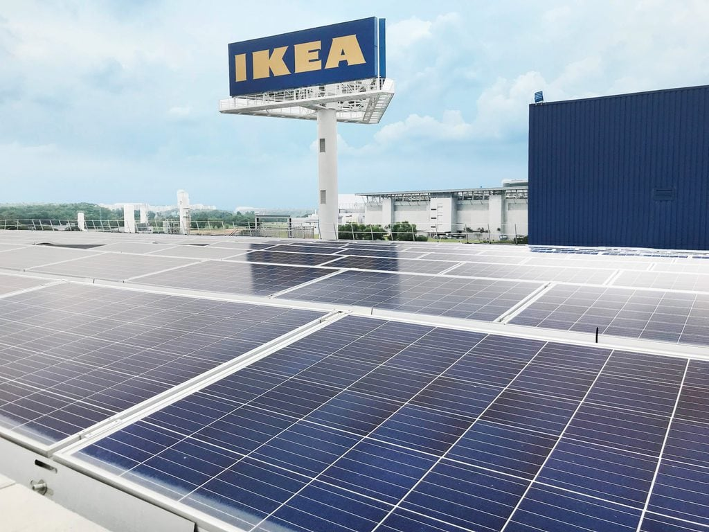 IKEA Using Solar Panels as Part of Its Carbon Imprint Nulification Strategy
