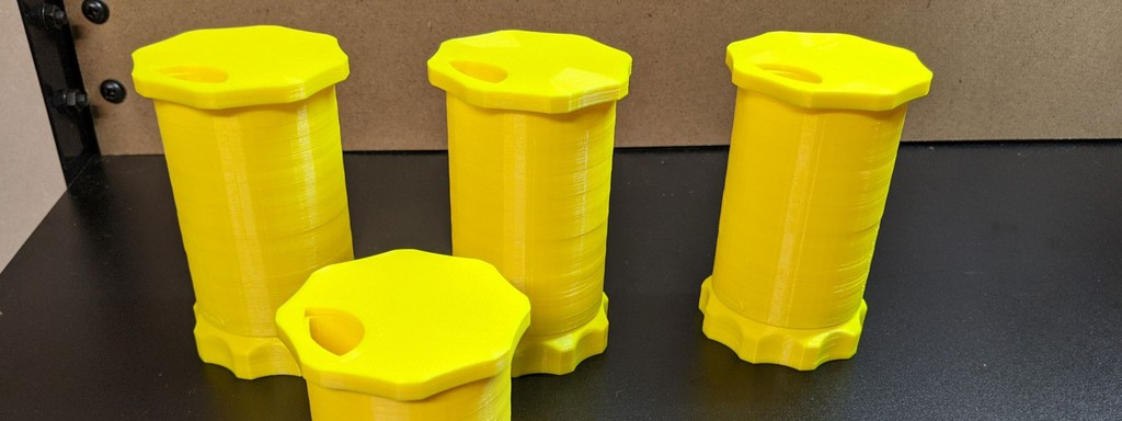 The 3D printed medication bottle by Brian Alldridge