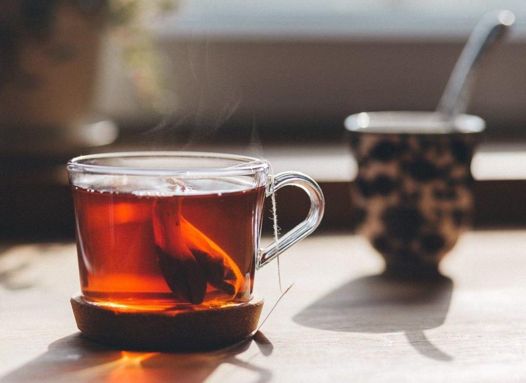a hot glass of tea