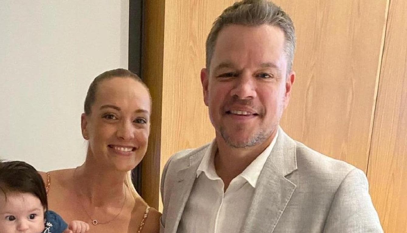 Matt Damon at the Safe Haven Charity Event